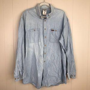 Men's Carhartt Light awash Denim Blue Shirt XL